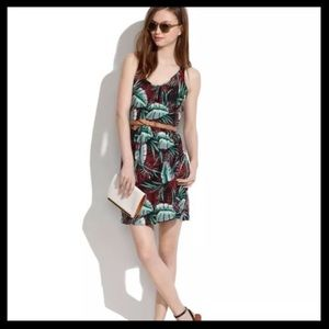 Madewell Silk Island Jungle Print Dress